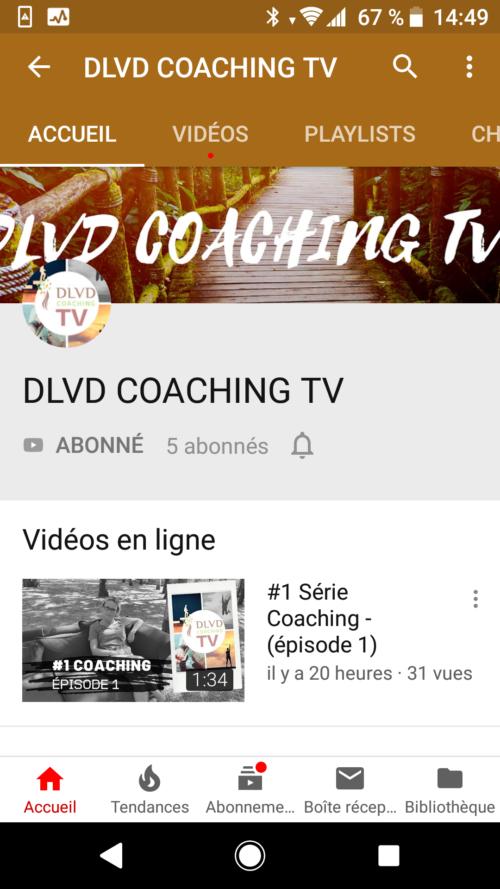 DLVD Coaching désormais sur You tube sous DLVD Coaching TV